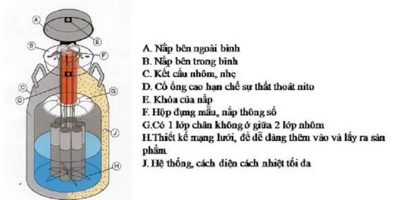 bình nito chứa tinh
